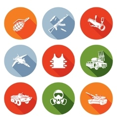 Weapons icons set vector