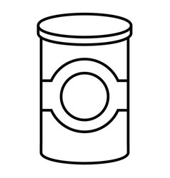 cosmetic jar plastic icon outline style vector image vector image