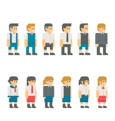 Flat design student uniform set vector image