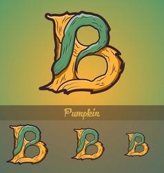 Halloween decorative alphabet - B letter vector image vector image