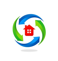 home house protection tool logo vector image