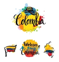 independence day of Colombia vector image vector image