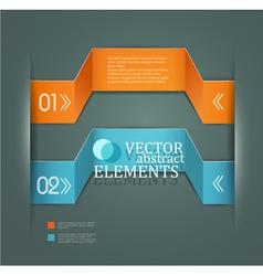 Modern banner Items for Web Business Design vector image