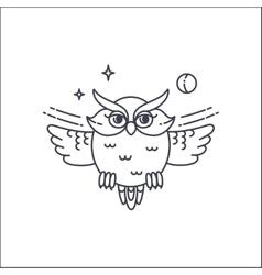 Owl liliar ilustration vector image vector image