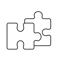 piece puzzle mental game line icon vector image