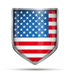 Shield with flag USA vector image vector image
