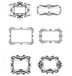 6 frame vector image
