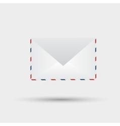 envelope on white background vector image