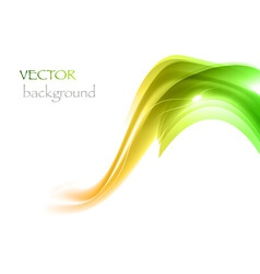 wave neon light white curve green vector image