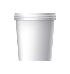 White blank plastic container vector image vector image