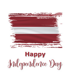 18 november latvia independence day vector image