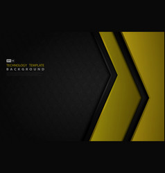 abstract black and yellow tech design decoration vector image