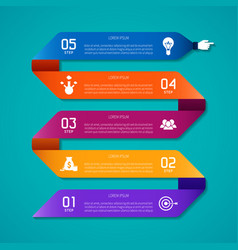 Abstract infographic template in flat style for vector