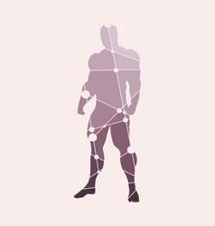 abstract of bodybuilder vector image