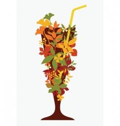 autumn cocktail vector image