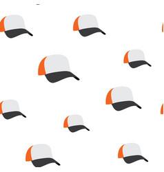 baseball cap seamless pattern vector image