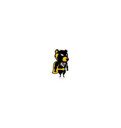 bear superhero logo icon vector image