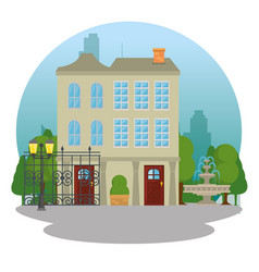 beautiful and modern family house vector image