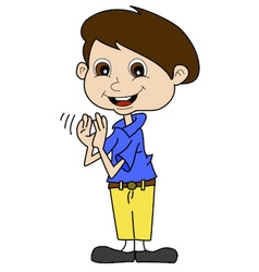 Boy Clapping vector