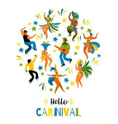 Brazil carnival of funny vector
