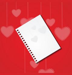 Card for valentine day saint valentina vector