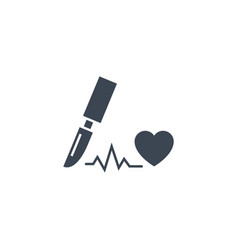 cardio surgery related glyph icon vector image