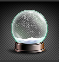 christmas snowglobe sphere ball crystal vector image