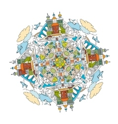 City Mandala 01 A vector image