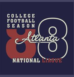 College football season vector