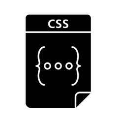 Css file glyph icon cascading style sheets vector