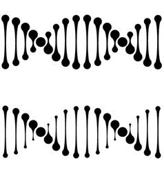 DNA simple black symbols vector