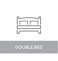 double bed icon symbol template vector image