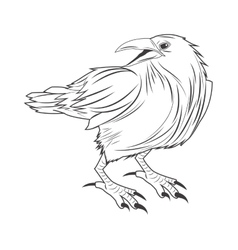 eagle tattoo animal design vector image