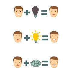 education makes happy vector image