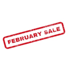 February Sale Text Rubber Stamp vector image