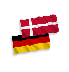 Flags denmark and germany on a white background vector