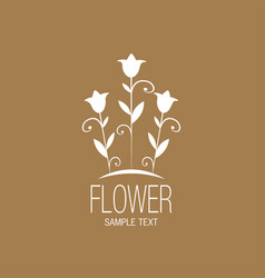 floral image with stylized lilies or tulips vector image