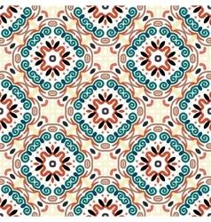 Floral Pattern Blue Brown Weave Elements vector image