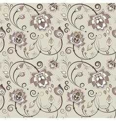 Floral seamless pattern in beige color scheme vector image vector image