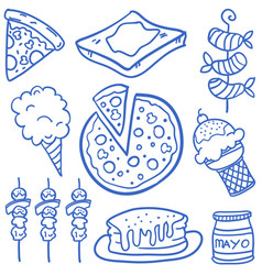 food set various of doodles vector image