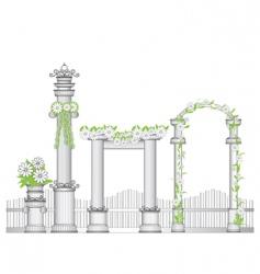 Garden arch vector