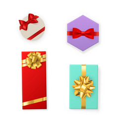 gift box color boxes with red vector image