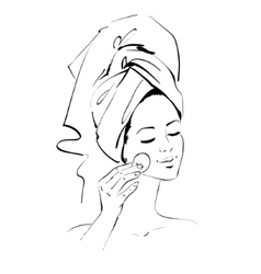 Girl Skin care vector image