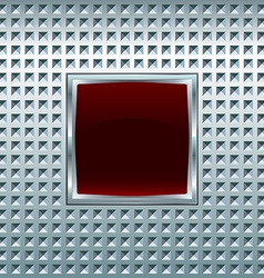 Glossy square screen vector image