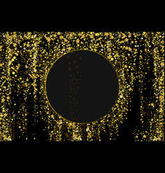 gold glitter confetti texture on a black vector image