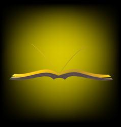 Golden book in light vector
