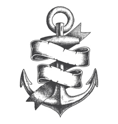 Hand drawn anchor vector