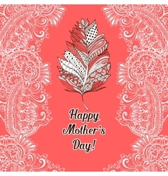 Happy Mothers Day greeting card or poster design vector image