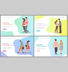 happy relationship couple feeling love vector image