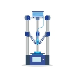 icon - 3d printer printering detail vector image